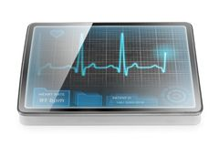 ECG on tablet Royalty Free Stock Photo