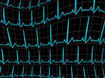 ECG tracing monitor. EPS 8 Royalty Free Stock Photography