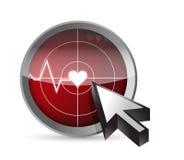 ECG tracing radar illustration design. Over a white background Stock Photos