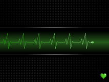 Ecg Vector. With with bright green display Stock Image