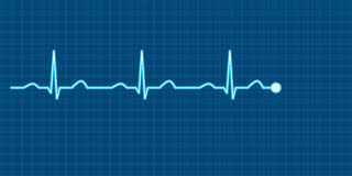ECG Vector Illistration Royalty Free Stock Image