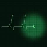 ECG verde Imagens de Stock