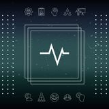 ECG wave - cardiogram symbol. Medical icon. Element for your design Stock Image