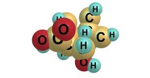 Ecgonine molecular structure isolated on white Stock Image