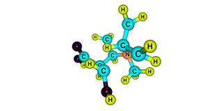 Ecgonine molecular structure isolated on white Stock Photo