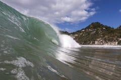 Echada del labio de la onda Fotografía de archivo