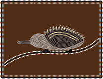 Echidna. A illustration based on aboriginal style of dot painting depicting Echidna Royalty Free Stock Photo