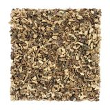 Echinacea Root Herb. Used in alternative herbal medicine to boost the immune system, helps to protect against colds, on white background. Asteraceae, purpurea stock photo