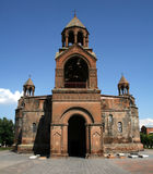 Echmiadzin大教堂在亚美尼亚 免版税库存照片