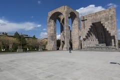 ECHMIADZIN,亚美尼亚- 2016年5月02日:Etchmiadzin修道院comple 免版税图库摄影