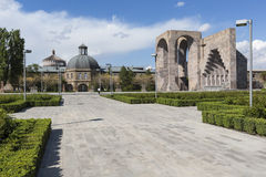 ECHMIADZIN, ARMENIA - MAY 02, 2016: Etchmiadzin monastery comple Royalty Free Stock Photos