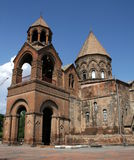 Echmiadzin domkyrka i Armenien Arkivbilder