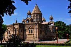 Echmiadzin, Vagharshapat, Armenien-Kathedrale lizenzfreie stockfotos
