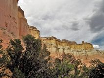 Echo Amphitheater Cliffs. Echo Amphitheater is a colorful geological feature combined with unusual auditory properties located in Tierra Amarilla, New Mexico Rio stock photo
