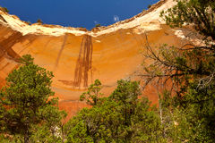 Echo Amphitheater, New Mexico. Echo Amphitheater, rock formation north of Abiquiu, New Mexico stock photo