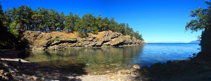 Echo Bay, Gulf Islands National Park, Saturna Island, British Columbia. Echo Bay is a small cove at the southern end of Saturna Island, part of Narvaez Bay of Royalty Free Stock Photos