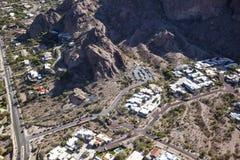 Echo Canyon. Entrance and parking to Echo Canyon at Camelback Mountain Stock Image