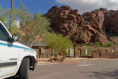 The Echo Canyon Trail at Camelback Mountain stock images