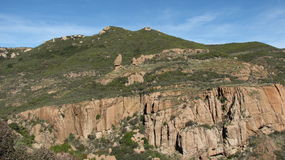 Echo Cliffs. In the Santa Monica Mountains near Malibu, CA Royalty Free Stock Photography