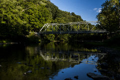 Echo Dell Road Truss Bridge - Ohio históricos e restaurados foto de stock royalty free