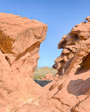 Echo Hills, Redstone Picnic Area, Lake Mead National Recreation Area, NV Stock Image