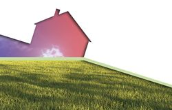 Echo house metaphor. Made in 3d software Stock Photography