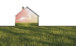 Echo house metaphor. Made in 3d software Stock Image