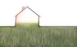Echo house metaphor Stock Image