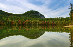 Echo Lake. Autumn time at Echo Lake with beautiful fall colors reflecting on the lakes surface Stock Photography