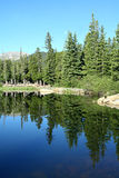 Echo Lake. A beautiful early morning view of Echo Lake, at the base of Mount Evans, Colorado Royalty Free Stock Photo