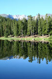 Echo Lake. A beautiful early morning view of Echo Lake, at the base of Mount Evans, Colorado Royalty Free Stock Images