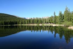 Echo Lake. A beautiful early morning view of Echo Lake, at the base of Mount Evans, Colorado Stock Photography