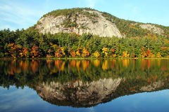 Echo Lake. In New Hampshire reflects a perfect mirror image Stock Image