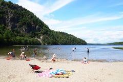 Echo Lake Beach Arkivfoton