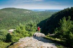 Echo Lake, het Nationale Park van Acadia, Maine, de V.S. royalty-vrije stock foto's