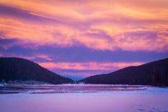 Echo Lake Sunset Stock Photo
