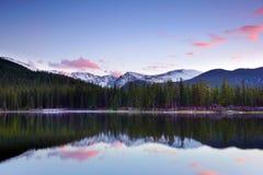 Colorado Mountain Lake: Echo Lake at Sunset Stock Photography