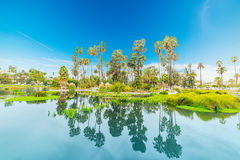 Echo park on a clear day Royalty Free Stock Image