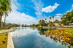 Echo park in Los Angeles. California Stock Images