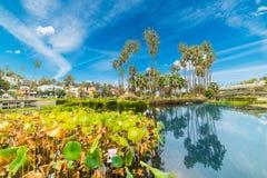 Echo park in Los Angeles Stock Photos