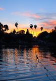 Echo Park Sunset Los Angeles Arkivbilder