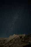 Echo Peaks, Milky Way Royalty Free Stock Photos