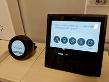 Echo Show And Echo Spot On Display At Best Buy Royalty Free Stock Image