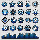 Echo Unlimited. Graphic icons & symbols for designers vector illustration