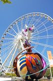 Echo Wheel of Liverpool and Sculpture. Stock Image