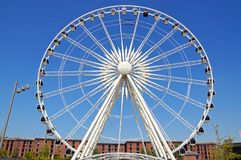 The Echo Wheel of Liverpool. Royalty Free Stock Photography