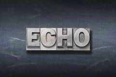 Echo word den Stock Photography