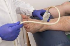 Echography в клинике Стоковое фото RF