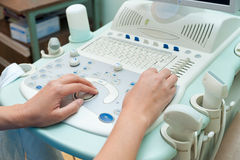 Echography specialist at work Stock Images