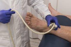 Echography w klinice Fotografia Stock